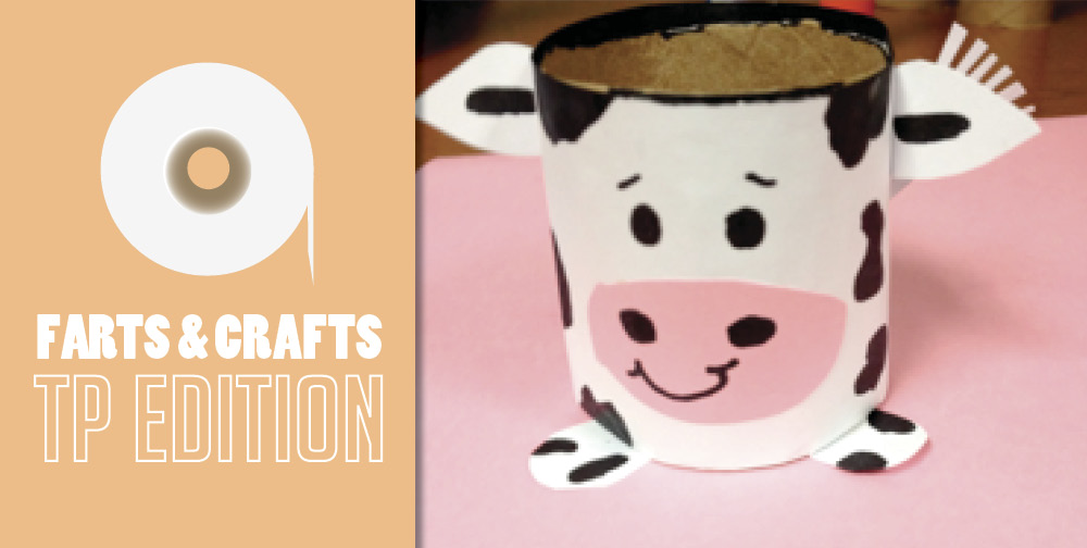 Farts And Crafts Toilet Paper Roll Cow Mr Rooter