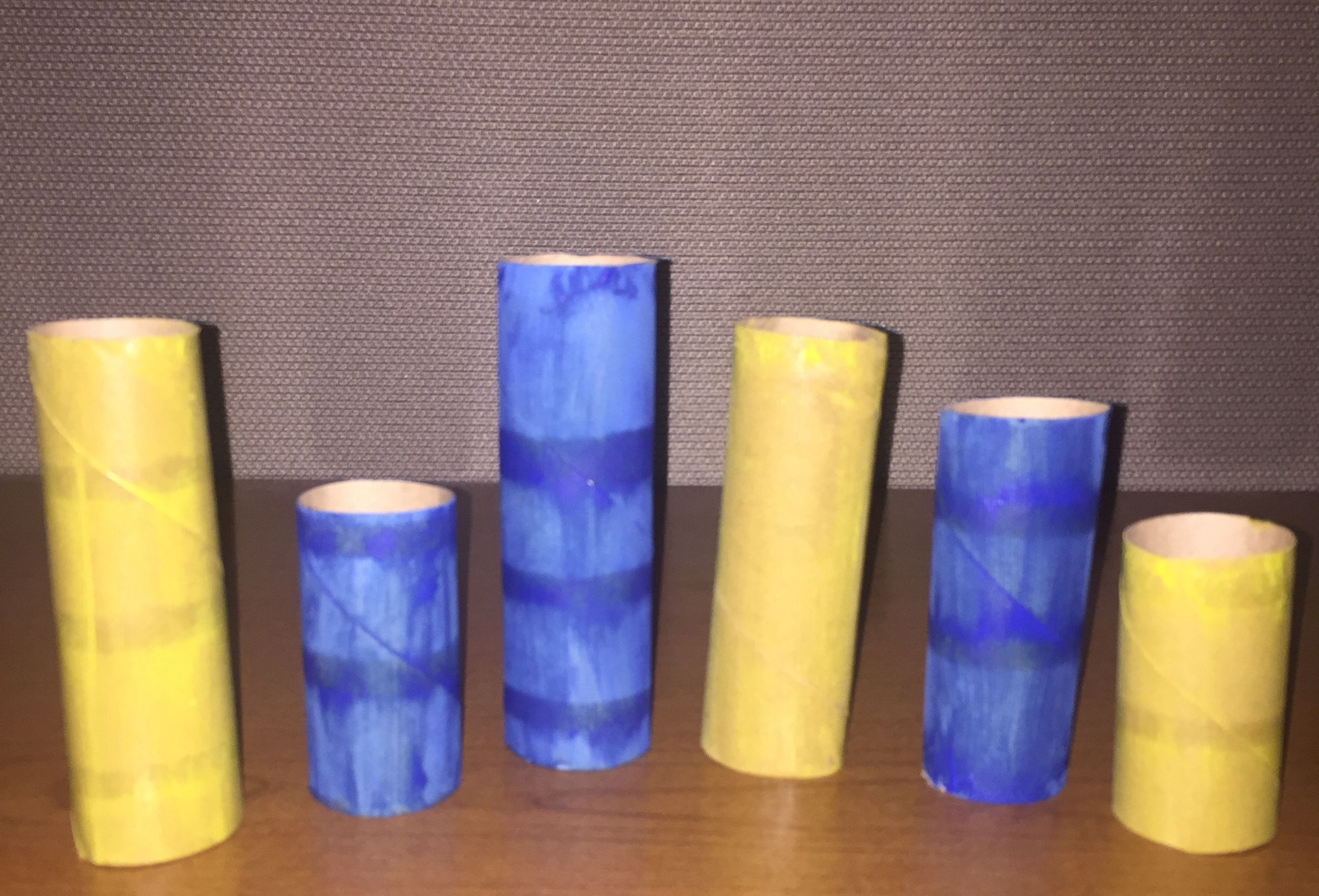 Painted Toilet Paper Rolls