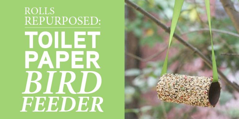 Rolls Repurposed Toilet Paper Bird Feeder