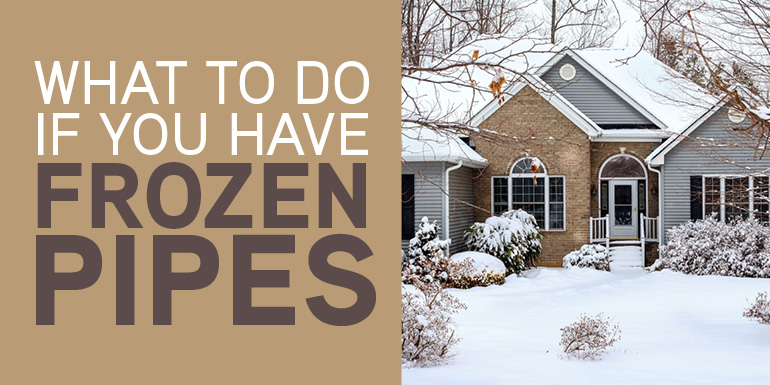 What To Do About Frozen Pipes