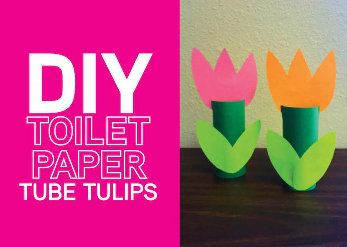 DIY: Toilet Paper Tube Tulips