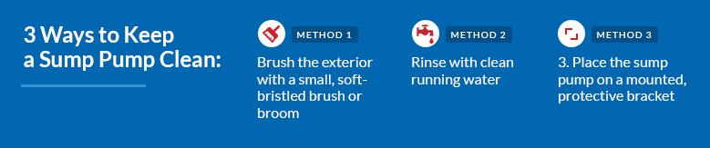 3 ways to clean a sump pump