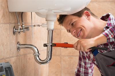 Plumber inside household
