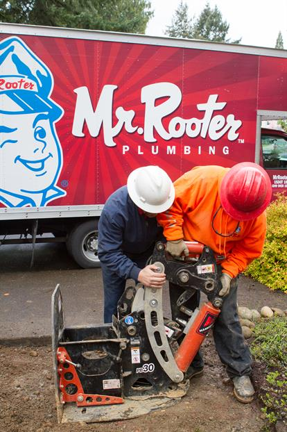 plumbers performing trenchless repair