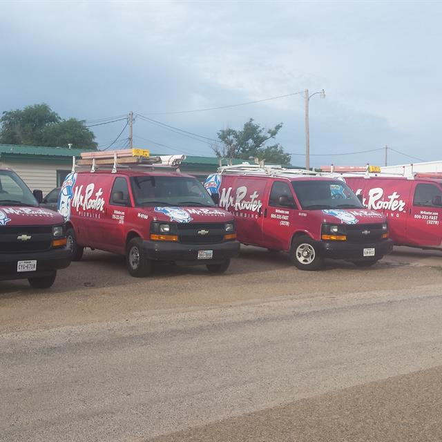 The entire Mr. Rooter Plumbing of Amarillo fleet