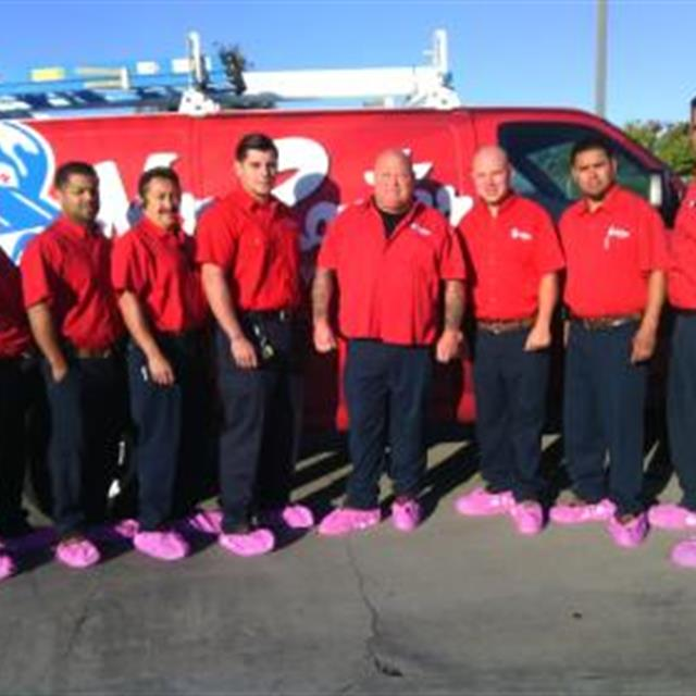 Mr. Rooter of Santa Cruz team proudly wears pink booties showing our support!