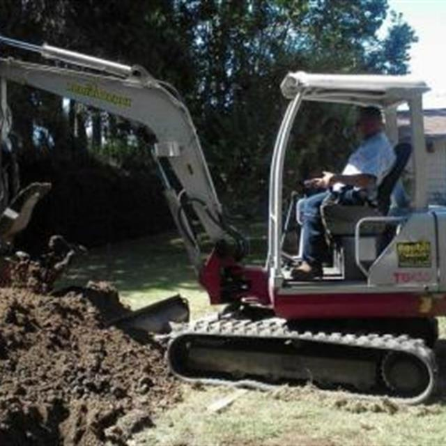 During the install of a septic tank