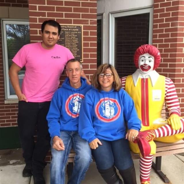 Owners Posing with Ronald