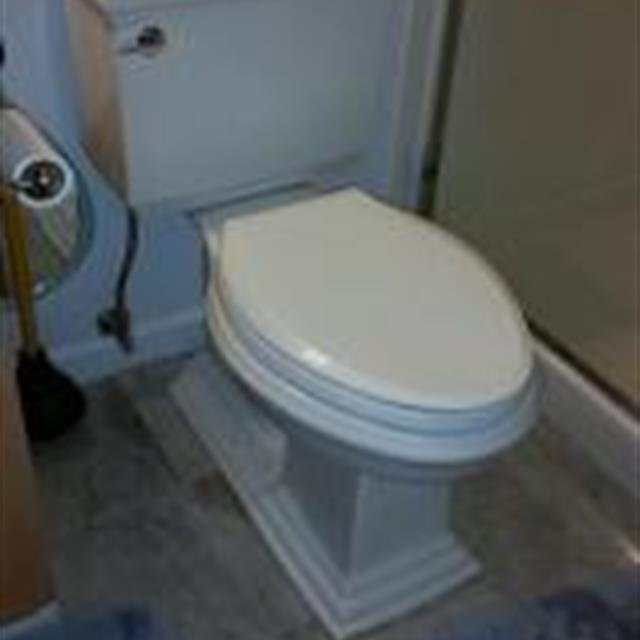 Typical high quality Kohler comfort height toilet.   Model: Memoirs Stately 1.28 gallons per flush What a beauty !!!