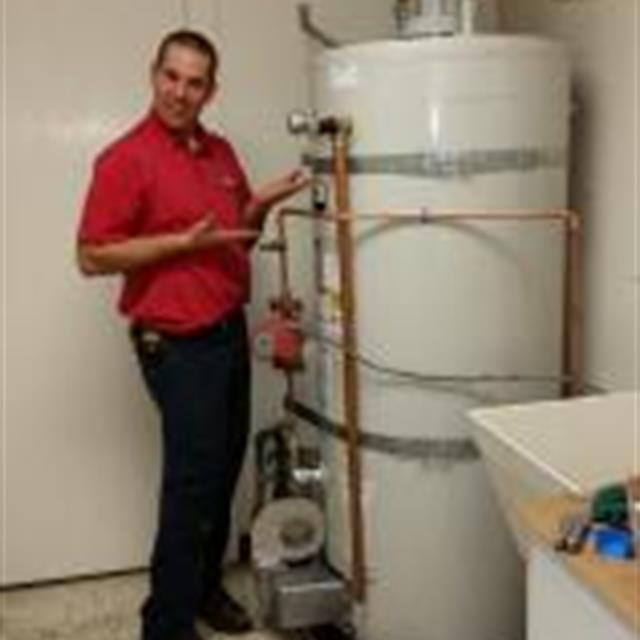 2nd floor 100 gallon commercial water heater installation, piece of cake!!! Nice job, Scott.