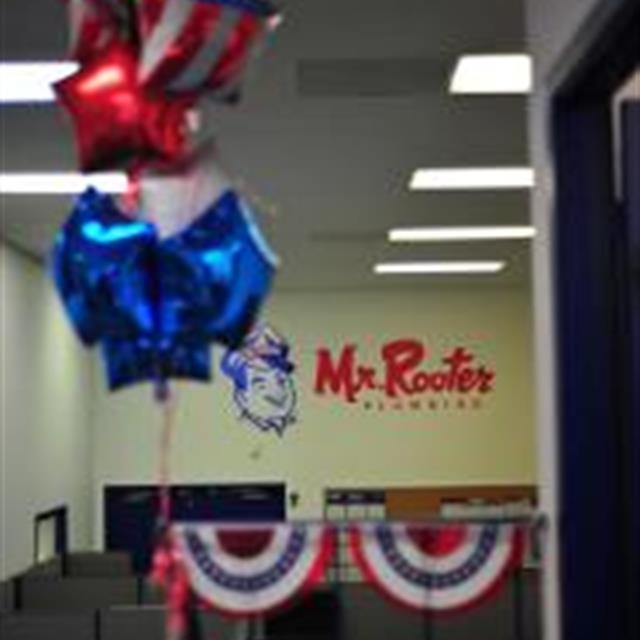It's no mistake that the Mr. Rooter Plumbing of San Antonio's colors are red white and blue! We support our troops!