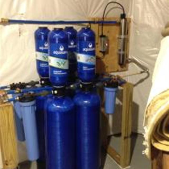 Completed Aquasana water filtration system.