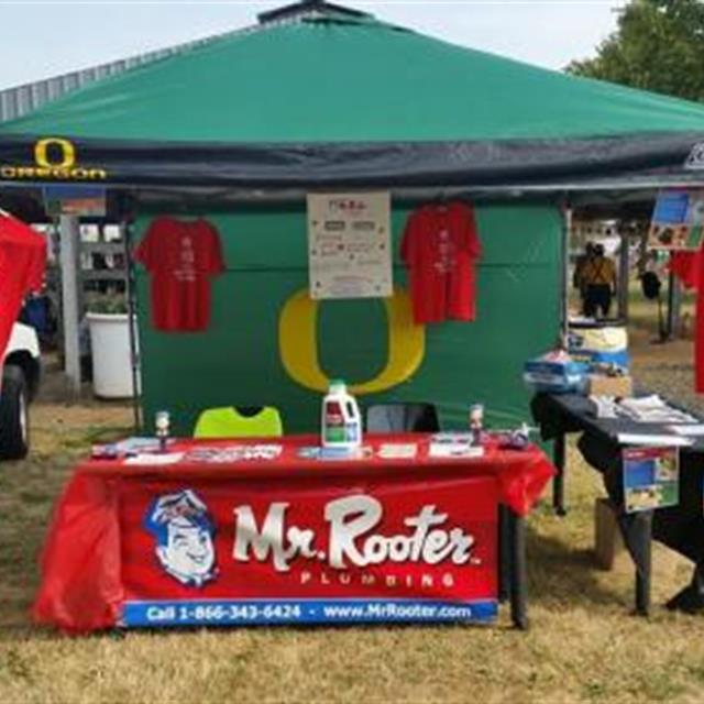 Our Mr. Rooter Plumbing booth