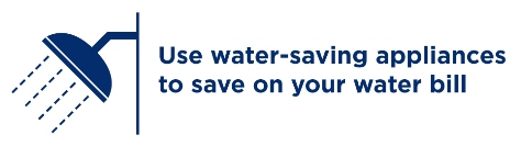 save water with water saving appliances