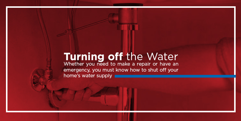 turning off the water