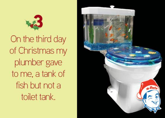 toilet tank with fish bowel