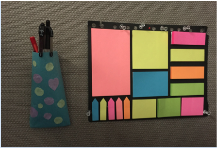 post-it note board