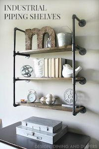 industrial plumbing pipe shelves
