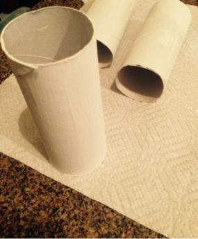Painted Toilet Paper Roll Holiday Popper Craft