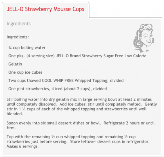 Jell-O strawberry mousse cups