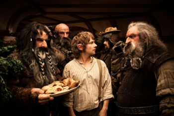 Bilbo and the dwarves in The Hobbit - An Unexpected Journey