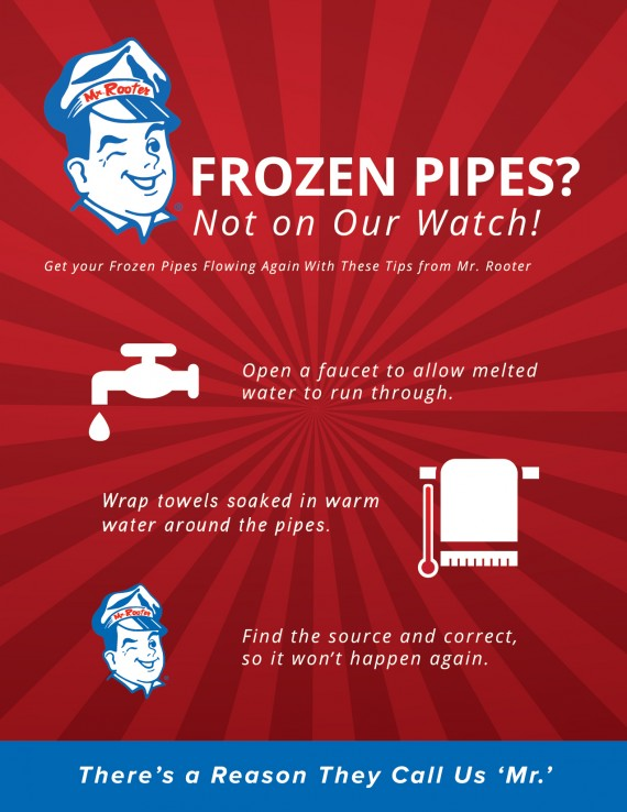 Thaw Frozen Pipes Infographic