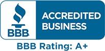BBB Accredited Business, A+ Rating
