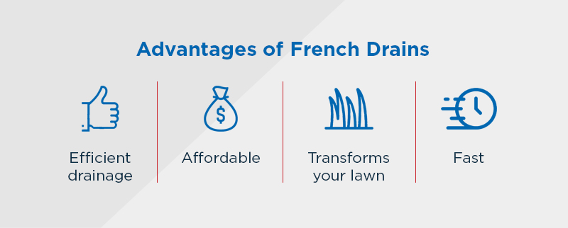 Advantages of French Drains infographic