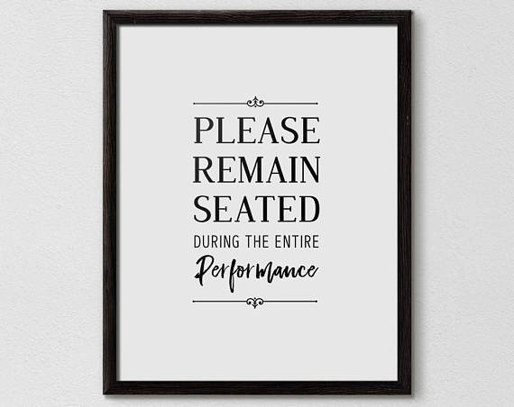 Please remain seated poster