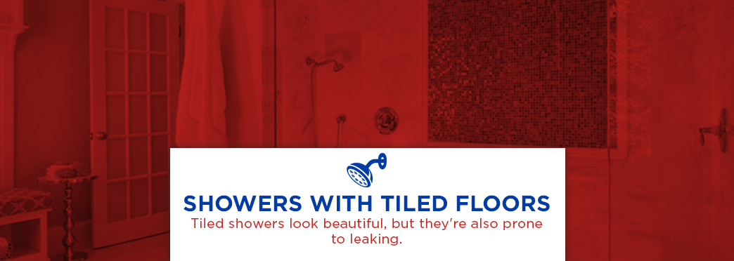 showers with tiled floors