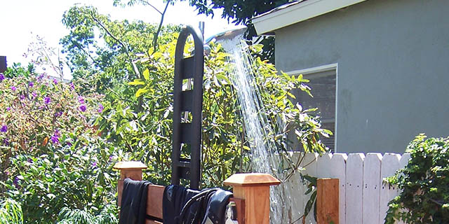 Plumbing Needs For An Outdoor Shower