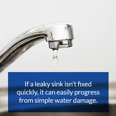 leaky sinks can lead to water damage