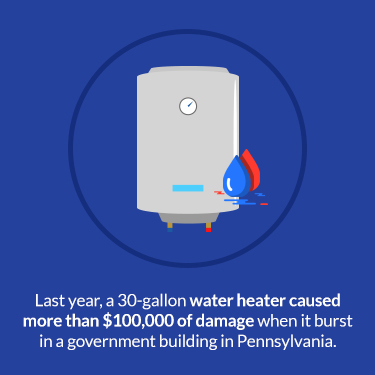 cost of water heater explosion