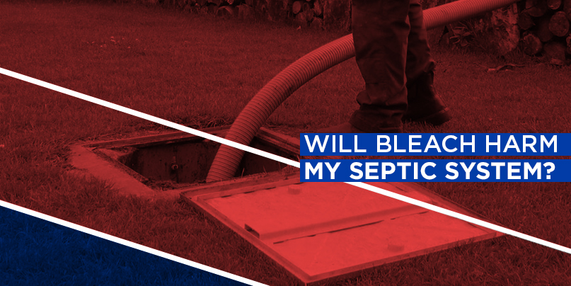 will bleach harm septic system