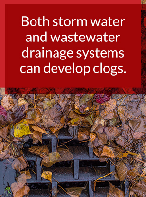 storm and waste water drainage systems