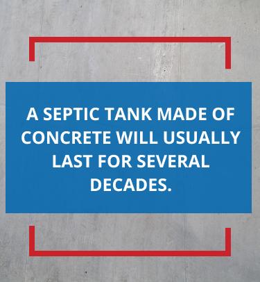бетонный септик прослужит десятилетия