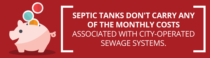 septic tanks don't have a monthly fee