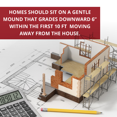 houses should sit on a gentle mound