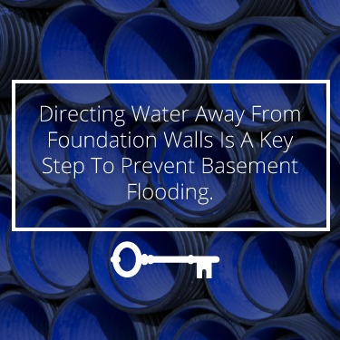 direct water away from basement walls