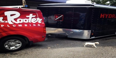 Mr. Rooter Plumbing Van and Trailer