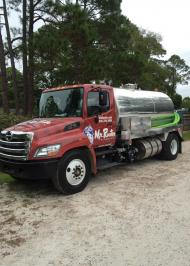 Mr. Rooter septic cleaning truck