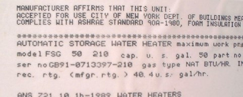 manufacture affirms that this water heater