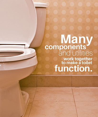 toilets have many components