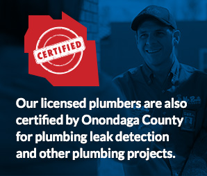 plumbers certified by Onondaga county