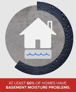 60% of homes have basement moisture