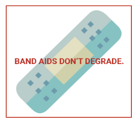 Band Aids Don't Degrade