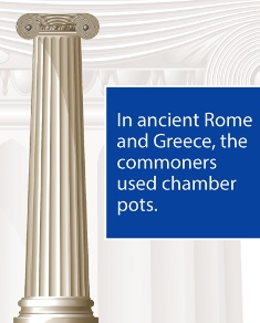 in ancient Rome and Greece commoners used chamber pots