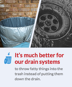 it's much better for our drain systems
