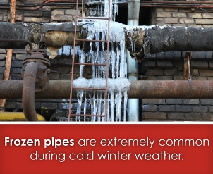 frozen pipes are common in cold weather