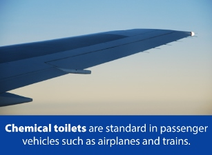 chemical toilets are standard
